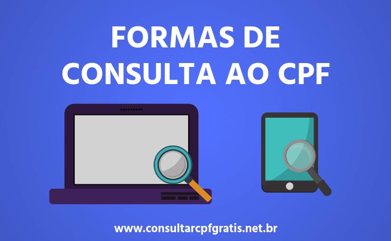 Formas de Consulta ao CPF