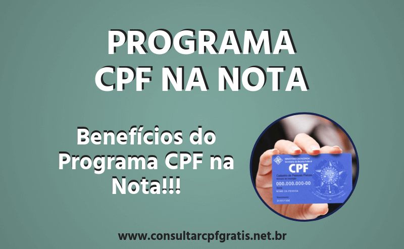 Programa CPF na Nota