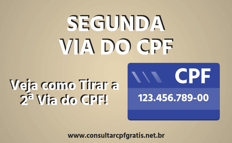 2ª Via do CPF
