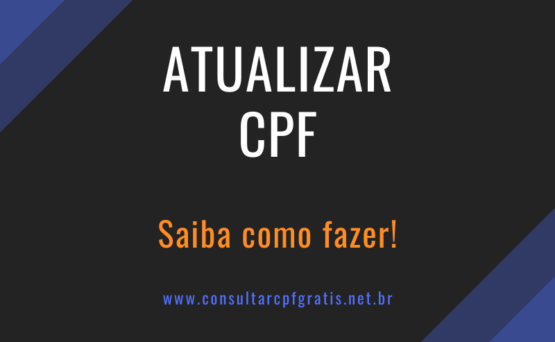 atualizar cpf